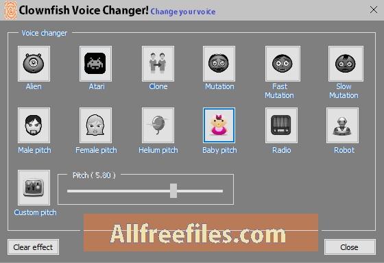 clownfish voice changer offline installer